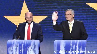 Jean-Claude Juncker Martin Schulz Spitzenkandidaten Europawahl