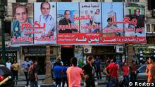 Ägypten Präsidentschaftswahl Wahlplakate in Kairo 25.05.2014