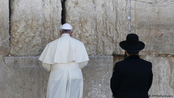 Jerusalem Papstbesuch an der Klagemauer 26.05.2014