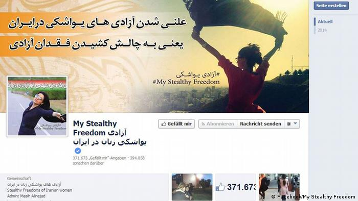 Screenshot of the startpage of My Stealthy Freedom on Facebook. (Photo: Facebook/ My Stealthy Freedom)