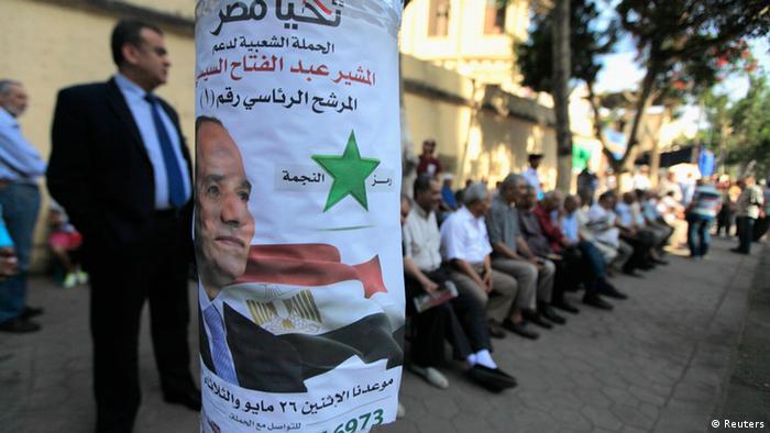 Ägypten Wahlen 26.05.2014 Plakat Al Sisi