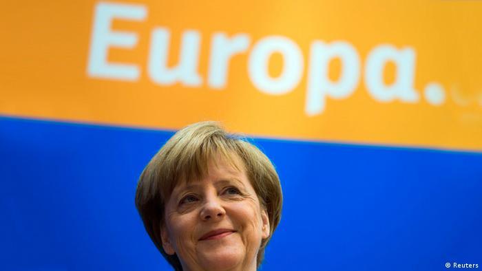 Angela Merkel Europapolitik Europawahl 26.05.2014 (Reuters)