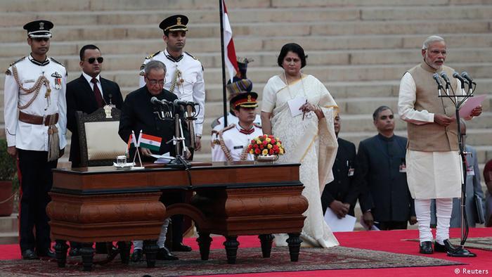 Indien Vereidigung Premierminister Narendra Modi 26.5.2014