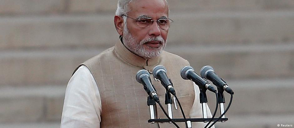 Primeiro-ministro da Índia, Narendra Modi: passos na direção certa