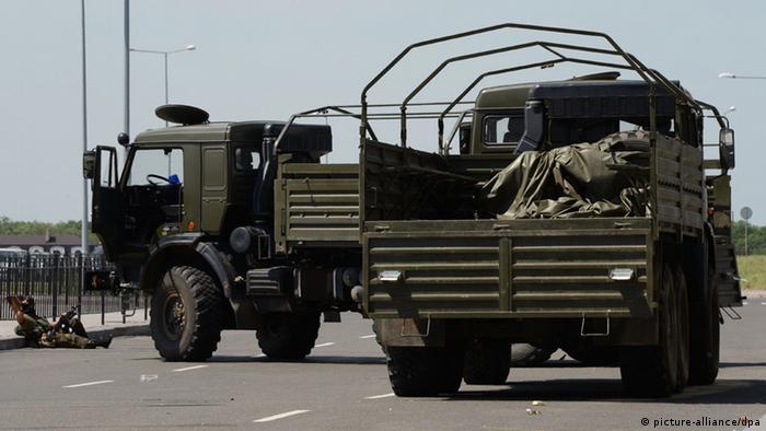 Ukraine Donezk Großangriff auf Flughafen 26.5.2014