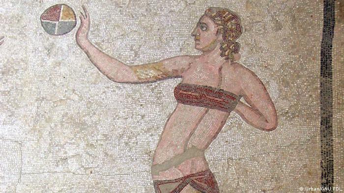 Mosaik junges Mädchen Villa del Casale Sizilien