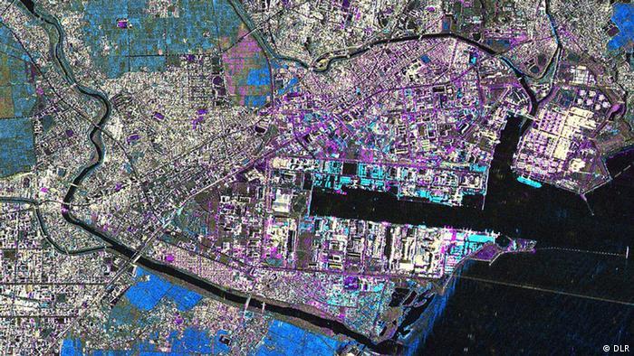 Bildergalerie Satellitenzwillinge TanDEM-X und Terrasar-X Sendai nach dem Tsunami