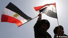Ägypten Wahlen Kinder mit Flagge