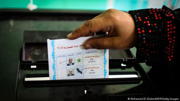 Wahlen in Ägypten Stimmzettel