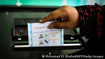 Wahlen in Ägypten: Stimmzettel (Foto: MOHAMED EL-SHAHED/AFP/Getty Images)
