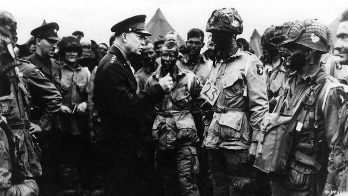 D-Day Paratroopers with General Dwight D. Eisenhower