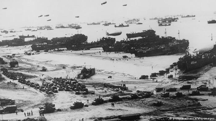 D-Day Landing ships and equipment hit Normandy