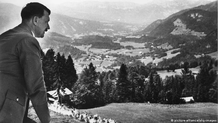 Hitler in his holiday retreat house in Obersalzberg