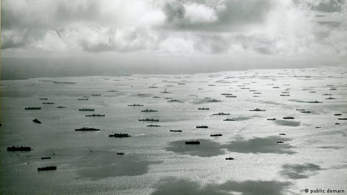 D-Day ships heading to Normandy
