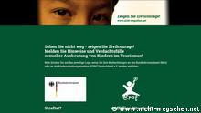 ##ACHTUNG! NUR ZUR BERICHTERSTATTUNG ÜBER DIESE WEBSITE VERWENDEN## Screenshot www.nicht-wegsehen.net