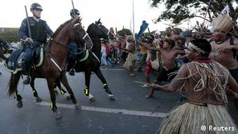indigenous demonstrators in Brazil