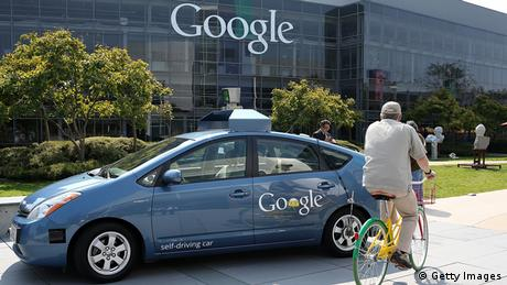 Google self-driving car at Google headquarters Photo: Justin Sullivan/Getty Images