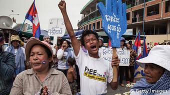Kambodscha Proteste in Phnom Penh Mai 2014