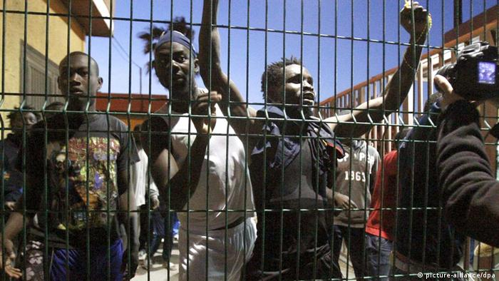 Melilla Zaun Flüchtlinge 28.05.2014