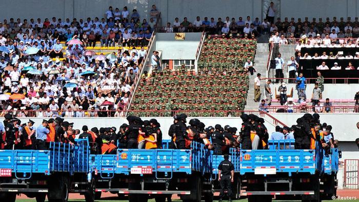 China Schauprozess Uiguren