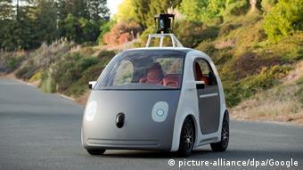 Das selbstfahrende Google Auto (Foto: Google/dpa)