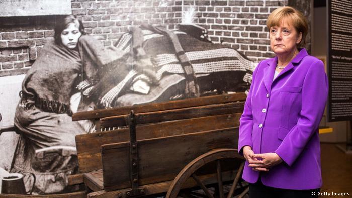 Ангела Меркель на открытии выставки о Первой мировой войне в Берлине