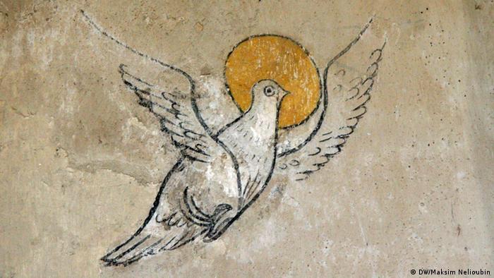 Фрагмент фрески в обходной галерее