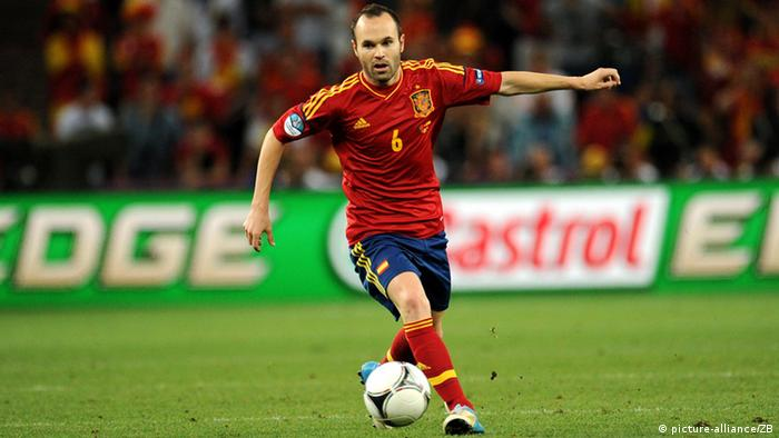 Interaktiver WM-Check 2014 Keyplayer Spanien Iniesta