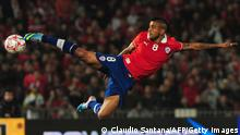 Chile's Arturo Vidal kicks the ball during their FIFA World Cup Brazil 2014 South American qualifier football match against Bolivia at the Nacional stadium in Santiago, Chile,on June 11, 2013.AFP PHOTO/CLAUDIO SANTANA (Photo credit should read CLAUDIO SANTANA/AFP/Getty Images)