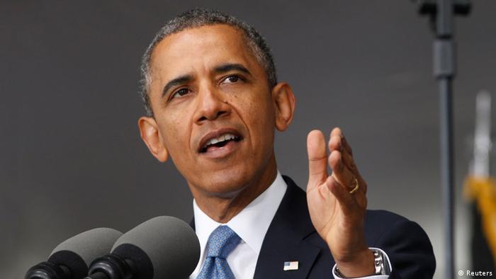 Obama bei seiner Rede in West Point (Foto: Reuters)