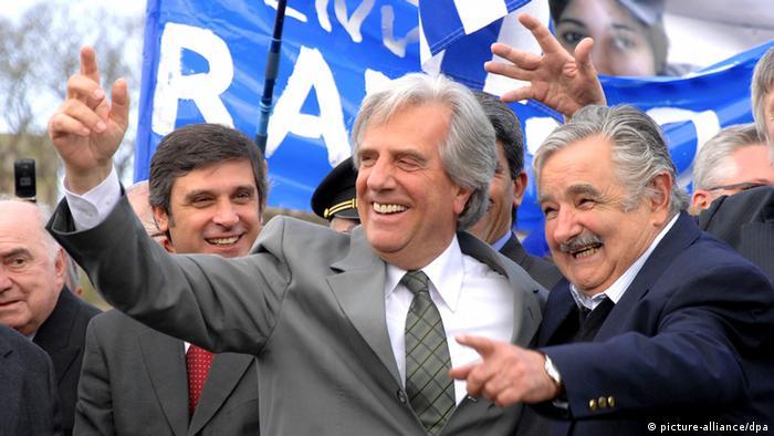 Tabare Vazquez und Jose Mujica(Foto: MARCELO BONJOUR/dpa)
