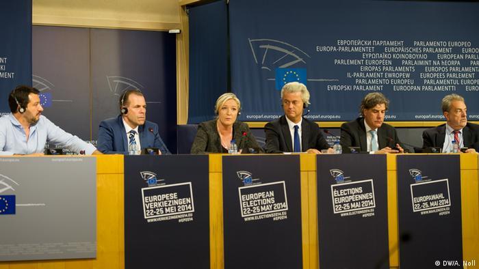 Лидеры крайне правых партий в Брюсселе 28 мая 2014 года