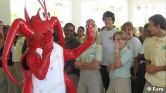 Mascot Spike the Lobster interacts with audience (Photo: RARE)