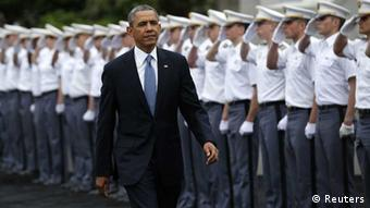 US-Präsident Obama, vor seiner Rede in West Point, 28.05.2014 (Foto: Reuters)