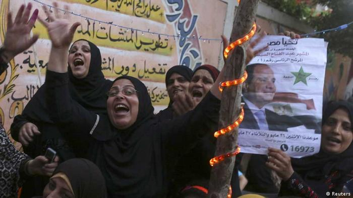 Anhänger Al-Sisis jubeln (Foto: rtr)