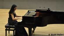 Dhurata Lazo, albanische Pianistin - Sie lebt in Karlsruhe. Foto: Bushi Bejleri, der Mann von Dhurata Lazo.