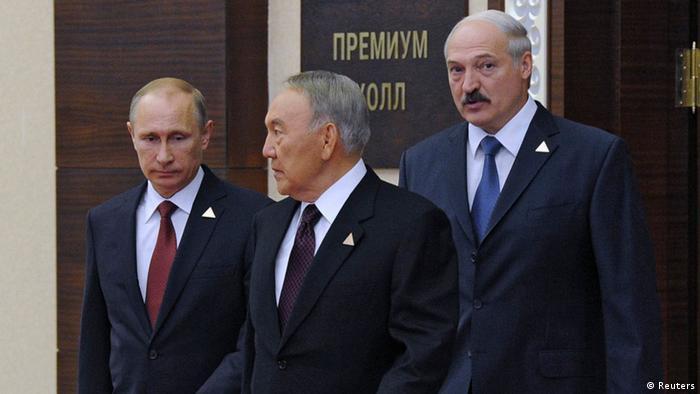 Kasachstan Gründungsvertrag für die Eurasische Wirtschaftsunion 29.05.2014 (Foto: Reuters)