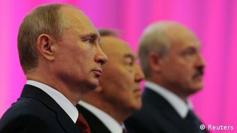 Vladimir Putin, Nursultan Nazarbayev and Alexander Lukashenko (Foto: Mikhail Klimentyev/RIA Novosti/Kremlin/REUTERS)