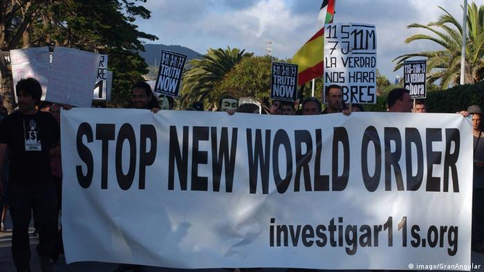 Demonstration gegen Bilderberg Organisation in Spanien