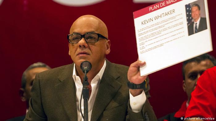 Venezuela Jorge Rodriguez Pressekonferenz in Caracas 28.05.2014 (picture-alliance/dpa)