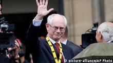 Herman Van Rompuy bei der Verleihung des Karlspreises