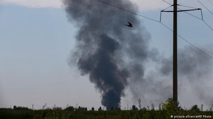 Ukraine 14 ukrainische Soldaten bei Abschuss ihres Hubschraubers getötet 29.05.2014