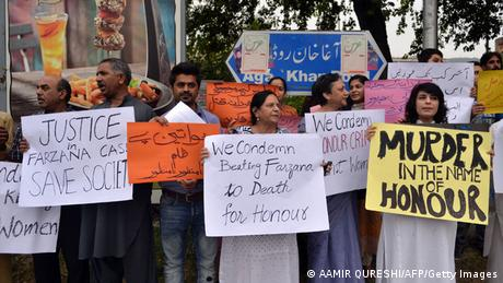 Pakistan Ehrenmord in Lahore 27.05.2014 Protest
