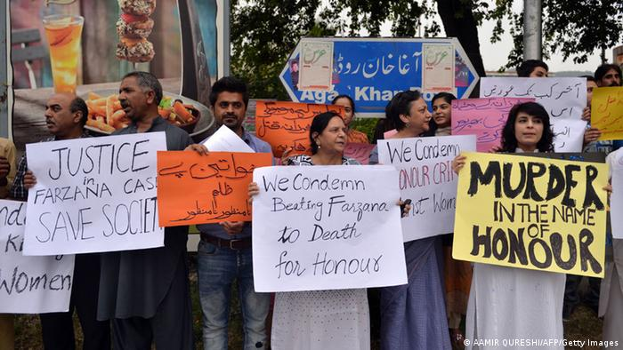 Pakistan Ehrenmord in Lahore 27.05.2014 Protest (AAMIR QURESHI/AFP/Getty Images)