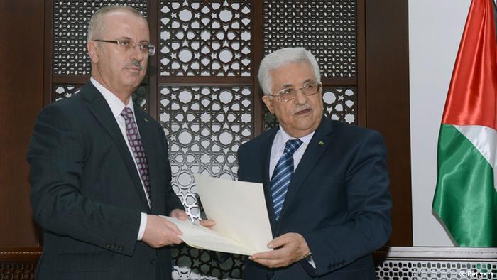 Mahmud Abbas and Rami Hamdallah