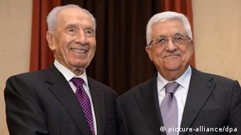 Schimon Peres und Mahmud Abbas
