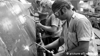 Рабочие в ГДР