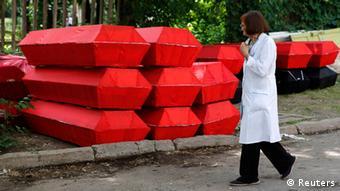 Ukraine Donezk 29.5.2014 rote Särge