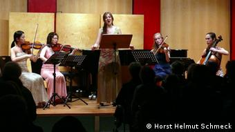A small ensemble on stage in Cologne