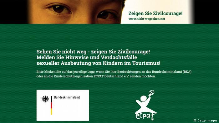 Screenshot von nicht-wegsehen.net